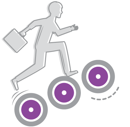 man going up stairs FVS help illustration