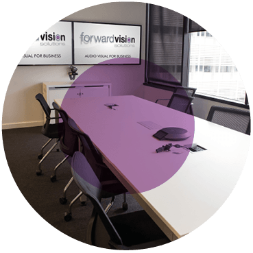 Audio Visual meeting room with barco clickshare
