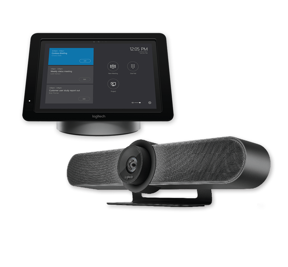 Skype Room Systems logitech hub and meetup all in one